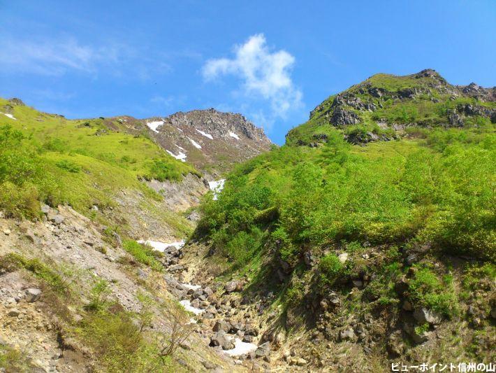 新緑の焼岳