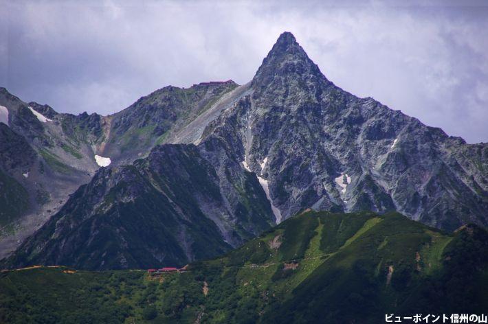 常念岳から見る槍ヶ岳