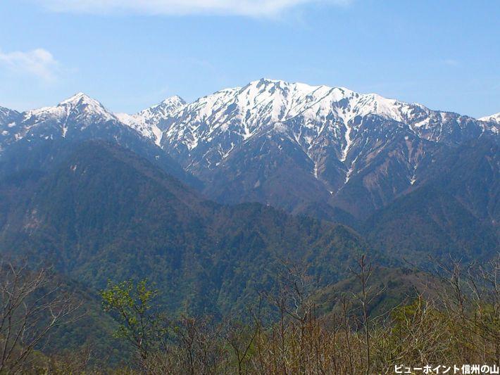 北葛岳と蓮華岳