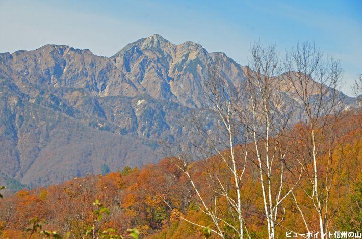 晩秋の爺ヶ岳