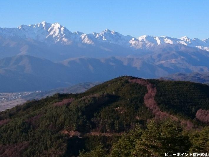 白銀の後立山連峰