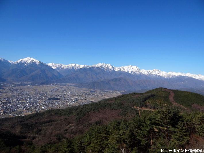 白雪の後立山連峰