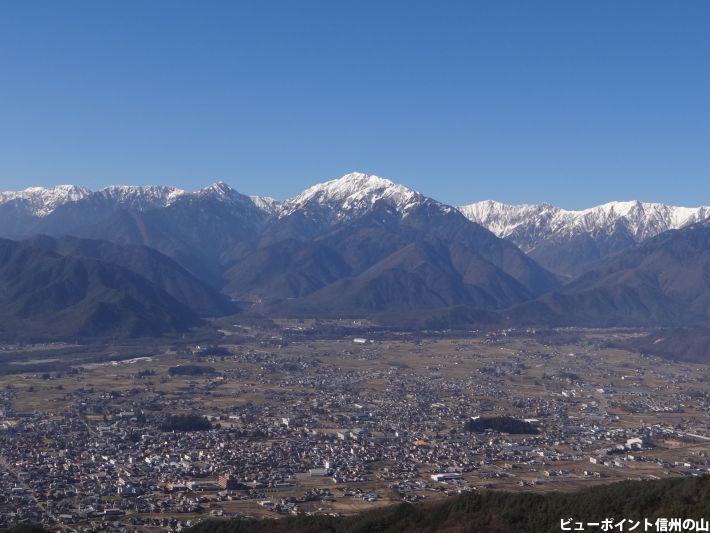 大町市と蓮華岳