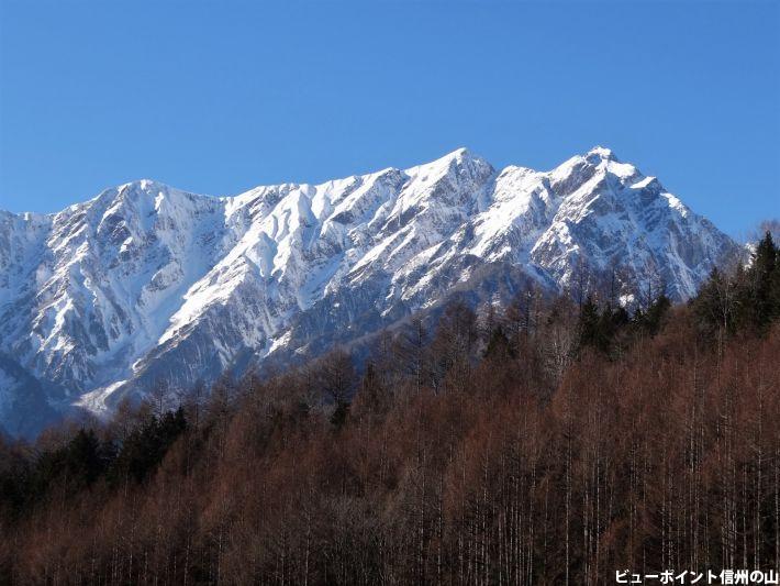 厳冬期の鹿島槍ヶ岳