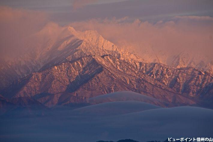 黎明の爺ヶ岳