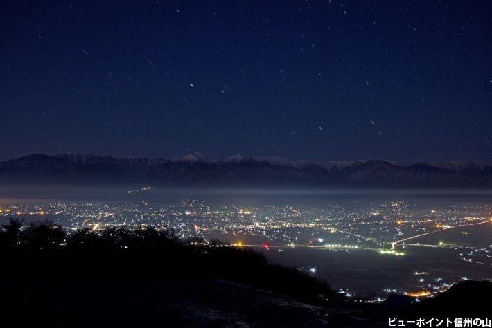 年の瀬の安曇野の夜景