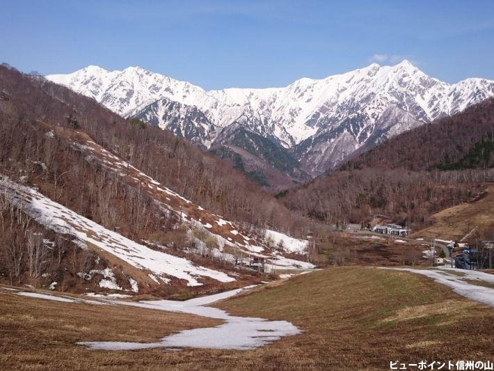 残雪の黒沢高原