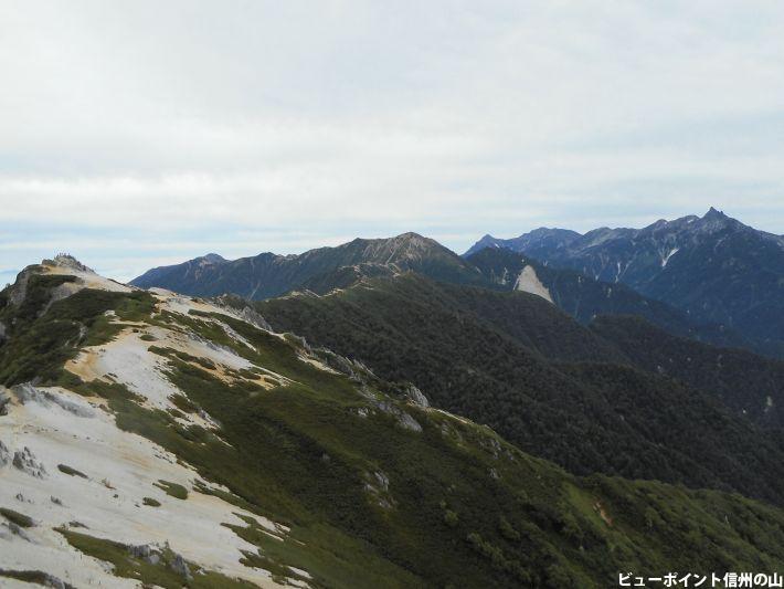 北燕岳から見た風景