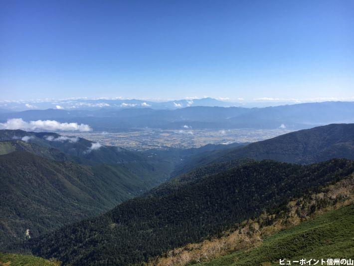 蝶ヶ岳から望む安曇野