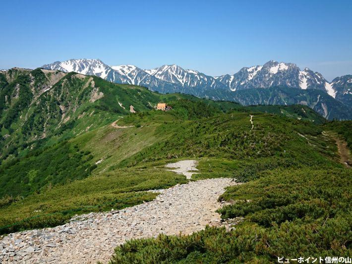 種池山荘と立山連峰