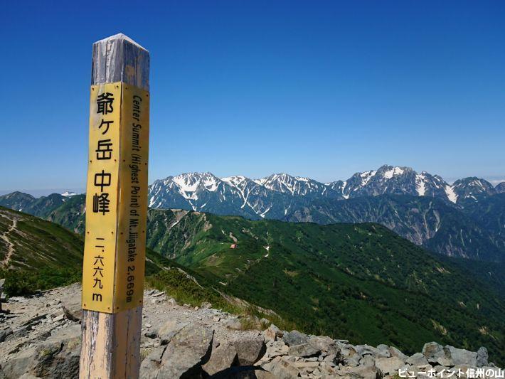 爺ヶ岳から望む剱立山