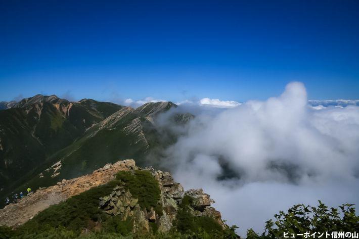 常念岳からの雲海