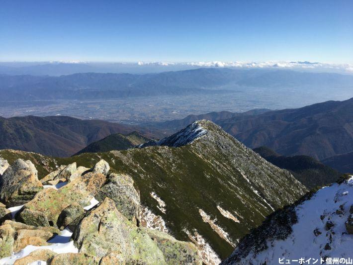 山頂から安曇野