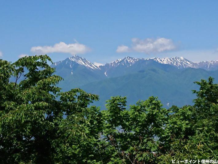 常念岳と大天井岳